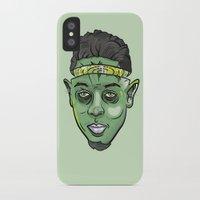 kendrick lamar iPhone & iPod Cases featuring Kendrick Lamar Yoda by Sneaker Pie