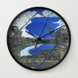 Grand Mesa Polyscape Wall Clock