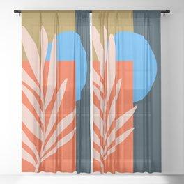 Abstract Art 39 Sheer Curtain