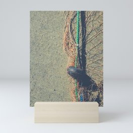 Fishnet with buoy on rope Mini Art Print