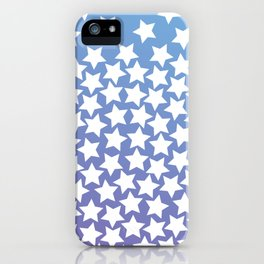 Lots of Black Stars on Gradient Background iPhone Case