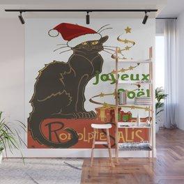 Joyeux Noel Le Chat Noir Christmas Parody Wall Mural