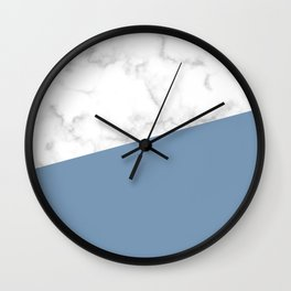 marble and ocean blue Wall Clock