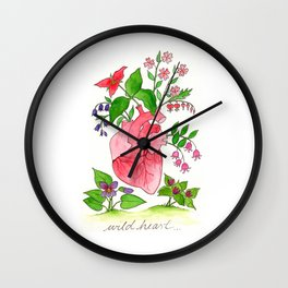 Valentine's Heart Wall Clock