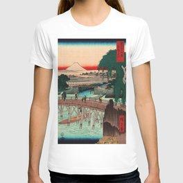 Vintage Woodblock - Ikkoku Bridge Japan T-shirt