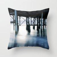 boardwalk empire Throw Pillows featuring boardwalk by neutral density