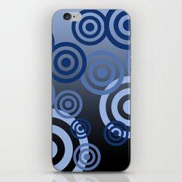 Blue Spirals pattern Design iPhone Skin