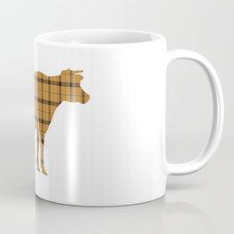 Cow: Orange Plaid Coffee Mug