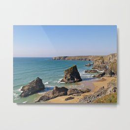 The Bedruthan Steps Metal Print