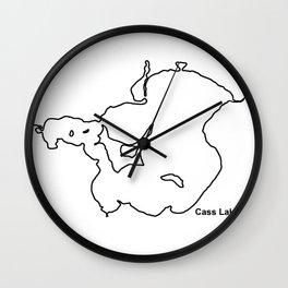 Cass Lake, MN Wall Clock