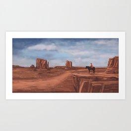 A desert affair Art Print
