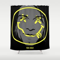 teen titans Shower Curtains featuring Teen Spirit by Butcher Billy