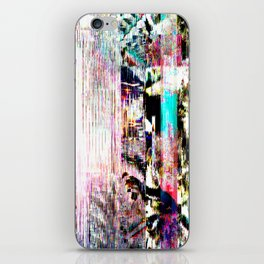 GLITCH 5 - interference (no transmitter left) iPhone Skin
