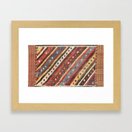 Luri  Antique Fars Southwest Persian Kilim Print Framed Art Print