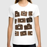 cameras T-shirts featuring cameras (white) by vitamin