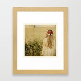 Fox Girl Framed Art Print