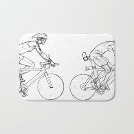 Transitions through Triathlon Cyclists Drawing A Bath Mat