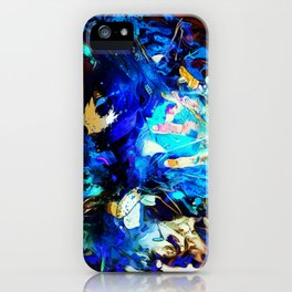 Blue fire iPhone Case