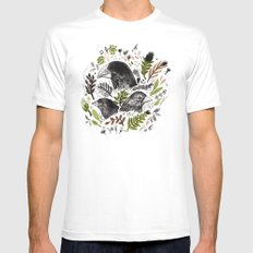 DARWIN FINCHES Mens Fitted Tee White MEDIUM