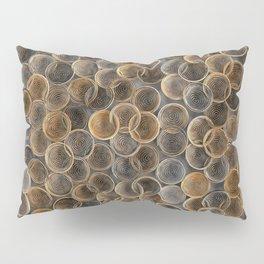 Black, white and orange spiraled coils Pillow Sham