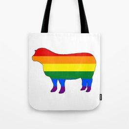 Rainbow Sheep Tote Bag
