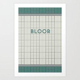 BLOOR | Subway Station Art Print