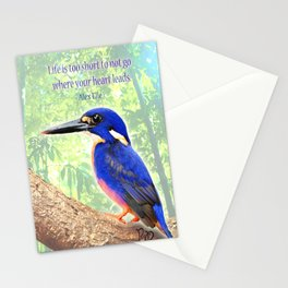 """Posh Parrot """"Life is too short"""" Stationery Cards"""