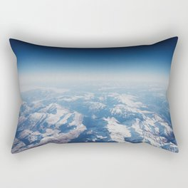 view of the Alps from the sky Rectangular Pillow