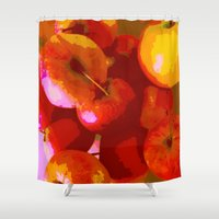 apple Shower Curtains featuring Apple by Mr and Mrs Quirynen