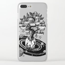 Space tree of Life Clear iPhone Case
