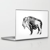 bison Laptop & iPad Skins featuring Bison by Jade Antoine