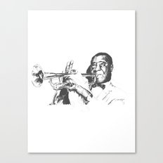 Louis Armstrong, Satchmo or Pops Canvas Print
