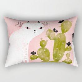 CAT & CACTUS Rectangular Pillow