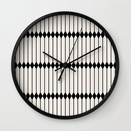 Minimal Geometric Pattern - Black Wall Clock