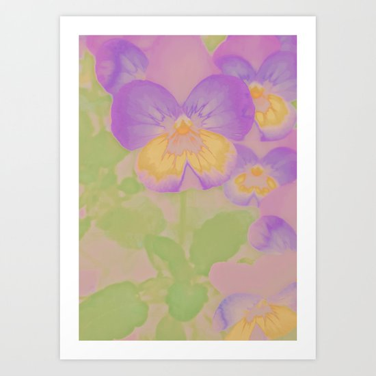Pansies, The Earth Laughs In Flowers Art Print