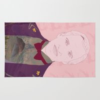 budapest hotel Area & Throw Rugs featuring The Grand Budapest Hotel II by Itxaso Beistegui Illustrations