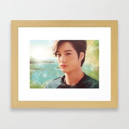 EXO Kai Framed Art Print