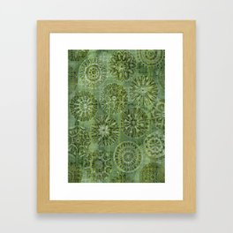 Mosaic Flowers Framed Art Print