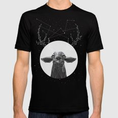 The Banyan Deer Black LARGE Mens Fitted Tee