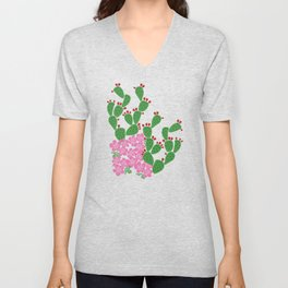 Locust Cider Cactus on Sand Unisex V-Neck