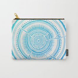 Quaking Aspen – Blue Ombré Tree Rings Carry-All Pouch