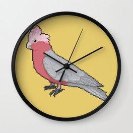 Pixel / 8-bit Parrot: Galah Cockatoo Wall Clock