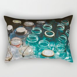 Ball Jars in Blue Rectangular Pillow