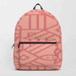 Dark Pink On Light Pink Boho Design Backpack