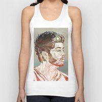 zayn Tank Tops featuring Geometric Zayn by Peek At My Dreams