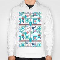 pantone Hoodies featuring Geometric Spring Pantone Palette by naturessol