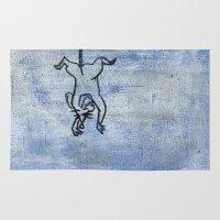 rat Area & Throw Rugs featuring Rat by Michael Shepherd