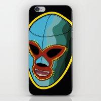 majoras mask iPhone & iPod Skins featuring mask by mark ashkenazi