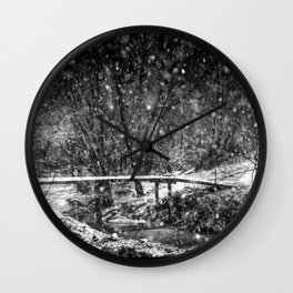 Winter Crossing Wall Clock