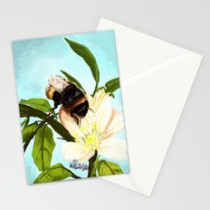 Bee on flower 4 Stationery Cards